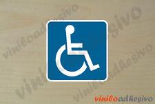 PEGATINA STICKER VINILO minusvalido handicapped autocollant aufkleber adesivi