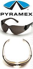 Pyramex Mini Intruder Smoke Lens Safety Glasses Sunglasses Small Mens Womens Z87