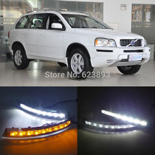2pcs White+Yellow Daytime Running Lamp DRL Fog Lights For Volvo XC90 2007-2014
