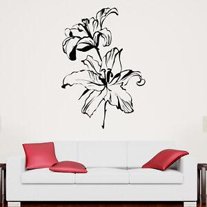 Lilly Flower Wall Sticker Decal Transfer Nature Home Design Matt Vinyl UK
