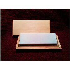 "8"" x 2"" x 1/2"" Arkansas White Translucent Knife Sharpener/ Box (1400 grit US)"