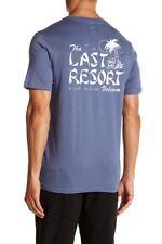 NWT Volcom Men's M Short Sleeve Tee T-Shirt Blue Last Resort Pocket T