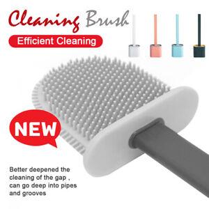 Toilet Brush Soft Silicone Cleaning Brush With Holder Base Bathroom Set UK