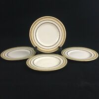 "Set of 4 VTG Bread Plates 6"" by Royal Doulton The Repton V1705 Laurel England"