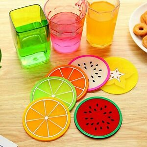 Premium Rubber Silicone Hot Drink Coaster Place Mat Mug Coffee Tea Beer Fruit