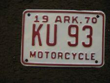 1970 Arkansas Motorcycle License Plate