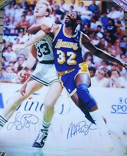 Magic Johnson / Larry Bird Dual Signed 16x20 Photo - SuperStar Authentic