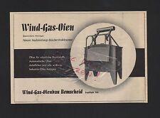 REMSCHEID, Werbung 1938, Wind-Gas-Ofenbau Industrie-Ofen-Anlagen
