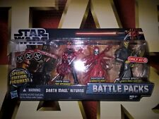 STAR WARS MH TARGET EXCLUSIVE 3.75in BATTLE PACK DARTH MAUL RETURNS MIP