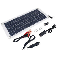 Solar Powered 12V Battery Charger Maintainer Sun Panel Plug Truck Boat Car Phone