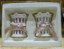 Set Of 2 - Lenox - Pierced Votives - Candle Holders - New In Box