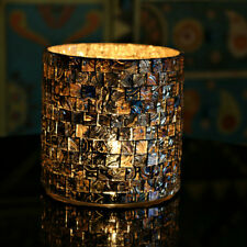 Marktsq Cylindrical Mosaic Glass Votive & Tealight Candle Holder