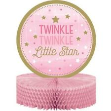 LITTLE STAR GIRL HONEYCOMB TABLE CENTREPIECE / CAKE TOPPER PINK
