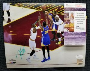 KEVIN DURANT Autographed GS Warriors 8x10 Photo. BECKETT