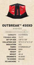 40450 New Eskimo Ice Shelter Shanty Portable Outbreak 450Xd Insulated