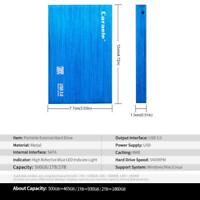 Blue USB 3.0 Mobile HDD External Hard Disk Driver 16MB Cache 7200RPM Rotation