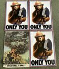 Lot 4 Vintage Original Smokey Bear Posters  Only you can prevent Forest Fire (6)