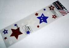 Patriotic Window Gel Assorted Sizes Of Patriotic Stars Red,White and Blue