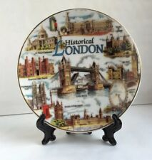 Historical London Decoration Showpiece Plate With Stand British Souvenir Gift