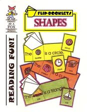 Kindergarten, First Grade Reproducible SHAPES Flip Books (NEW)