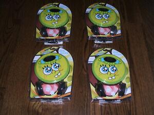 Lot of 4 Nickelodeon Spongebob Squarepants Personal CD Player #37062, Sealed