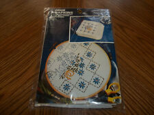 """4 Napkins Bouquet Stamped Embroidery or Paint Vogart Craft Kit 14"""" X 14"""""""