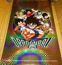 "Dragon Ball Z DBZ Poster HOLO Foil 1999 Vintage RARE 34"" x 22"" NEW AUTHENTIC"