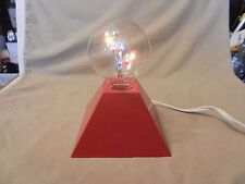 Small Red 4 Sided Pyramid with Multi Colored Bulb Night Light with On/Off Switch