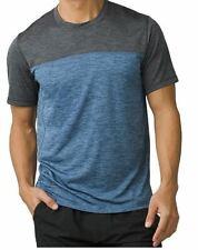 $45 prAna Haresty Mens Shirt Nwt Sz S Colorblock Blue Activewear Moisture Wick