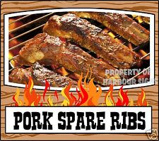 "Grill Menu Pork Spare Ribs Decal 14"" BBQ Food Truck Concession Restaurant Vinyl"