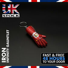 Marvel Avengers Iron Man Infinity Gauntlet Design Thanos Endgame Keyring New