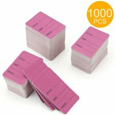 1000 Merchandise Clothing Price Tags Purple Color Perforated Sale Tag Pack Paper
