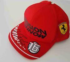 2020 Charles Leclerc signed Puma Ferrari F1 hat cap Mission Winnow OS Formula 1