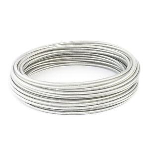 EDELSTAHL DRAHTSEIL PVC Ummantelung Stahlseil Ummantelt 1 2 3 4 5 mm INOX V4A