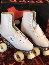 Chicago Women's Classic Roller Skates - Leather Lined White Rink Skates-SZ 7 NWB