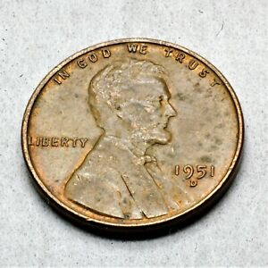 1951 D US. Wheat Penny  ch2