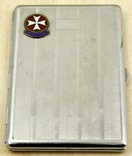 Malta Vintage Cigarette Case with Enamel Maltese Cross