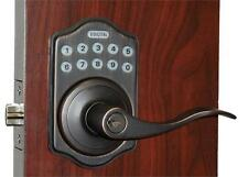 Lockey Keyless Electronic Door Lock Lever OB Touchpad Code Remote CAPABLE