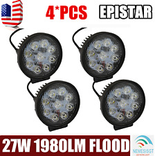 4 x 27W Round Flood LED Work Light Bar Driving Off road Lamp SUV Car Boat Truck