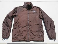 Womens The NORTH FACE Brown Primaloft Insulated Puffer Zip Sweater Jacket Medium