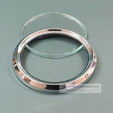 VDO CHROMRING + FRONTGLAS ENTSPIEGELT für 52mm  Metall  VDO BEZEL + LENS