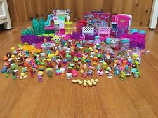 Shopkins Lot 200+ Mix of Seasons & Shoe Dazzle Fridge Tin Card Game Baskets Bags