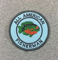 ALL AMERICAN FISHERMAN Patch 3in Fishing decal Iron On Patch si