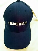 NEW CRUTCHFIELD BASEBALL HAT CAP NAVY BLUE FLEXFIT SZ S M NWT