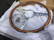 morris minor  Classic Woodrim Steering Wheel 15 In Flat Pol Spokes 9 Hole Fit