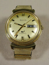 Vintage 1970 Bulova Whale Sea King Automatic Day & Date Watch