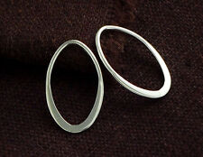 925 Sterling Silver 4 Oval Links, Connectors 12x19.5 mm.