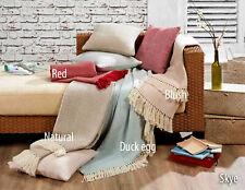 100% Cotton Woven Herringbone Zig Zag Design Sofa / Bed Throw  or Cushions