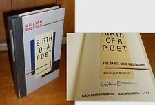 Signed First Edition ~ Birth of a Poet by William Everson, 1982, Black Sparrow