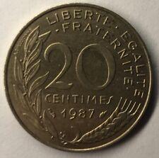 F.156 Monnaie Française 20 Centimes Marianne 1987 Achat Unitaire